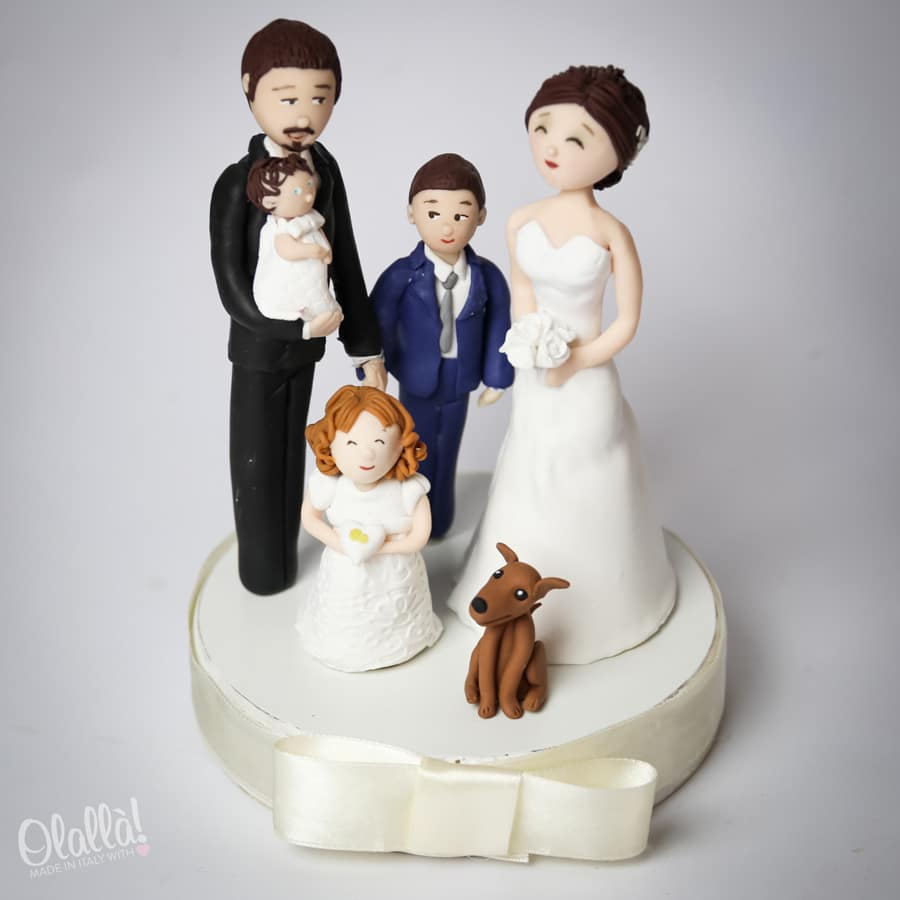 Colorful Fimo Wedding Cake Toppers Vignette - Wedding Idea 2018 ...