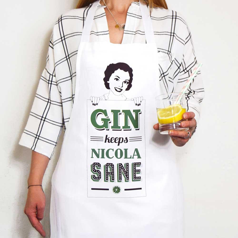 grembiule personalizzato cuoco gin
