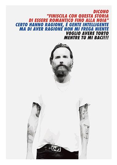 Frasi Di Jovanotti Sul Natale.Poster Personalizzabile Idea Regalo Fan Di Jovanotti Olalla