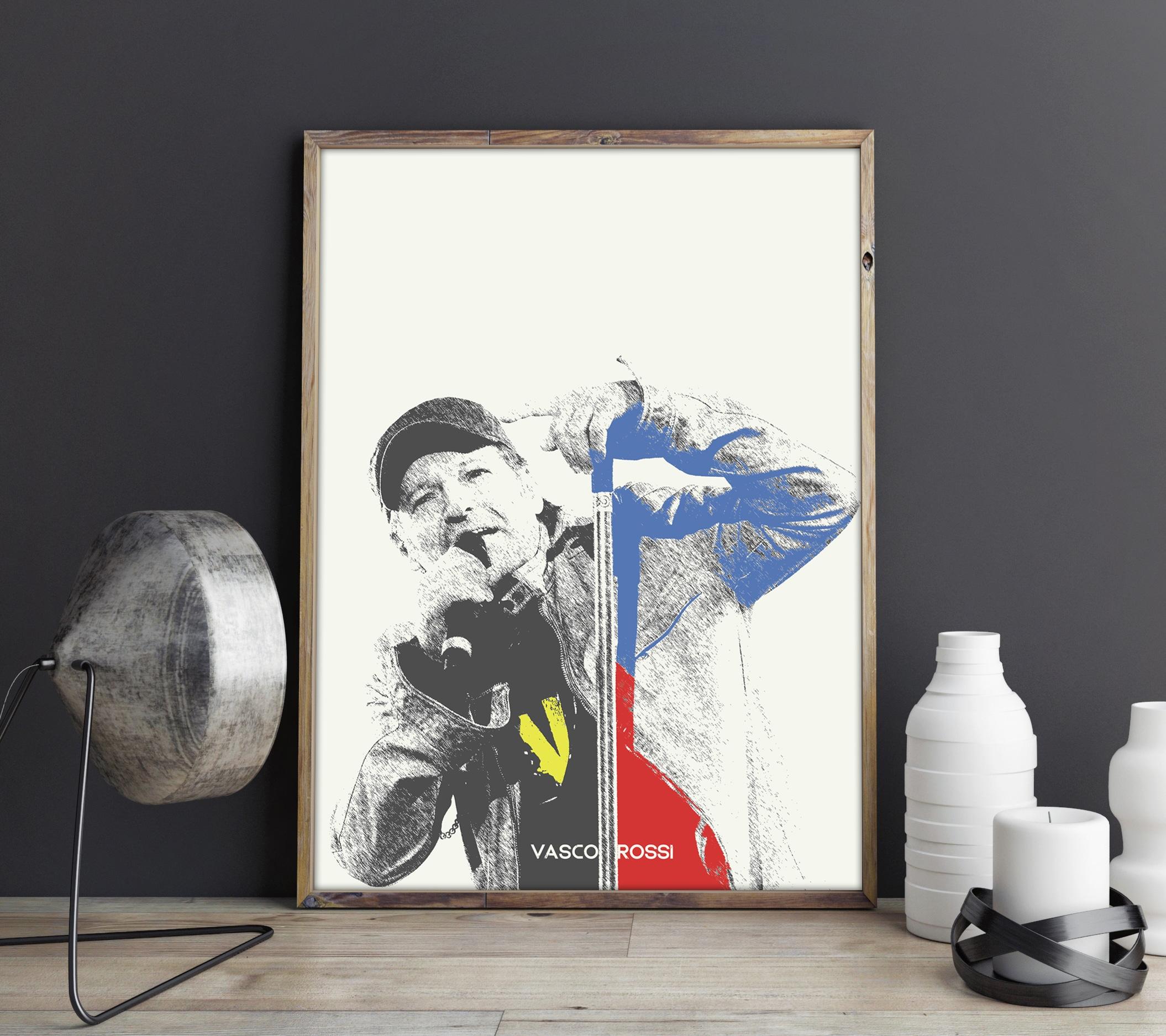 Favoloso Poster Personalizzabile Idea Regalo Fan di Vasco Rossi | Olalla VI39