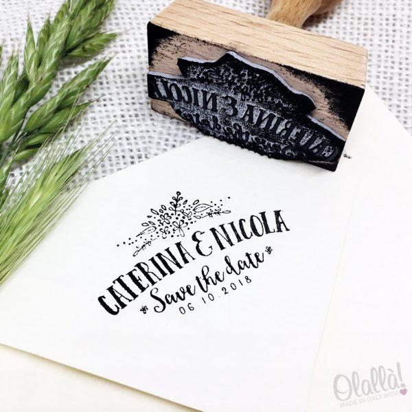 timbro-personalizzato-fascio-fiori-matrimonio