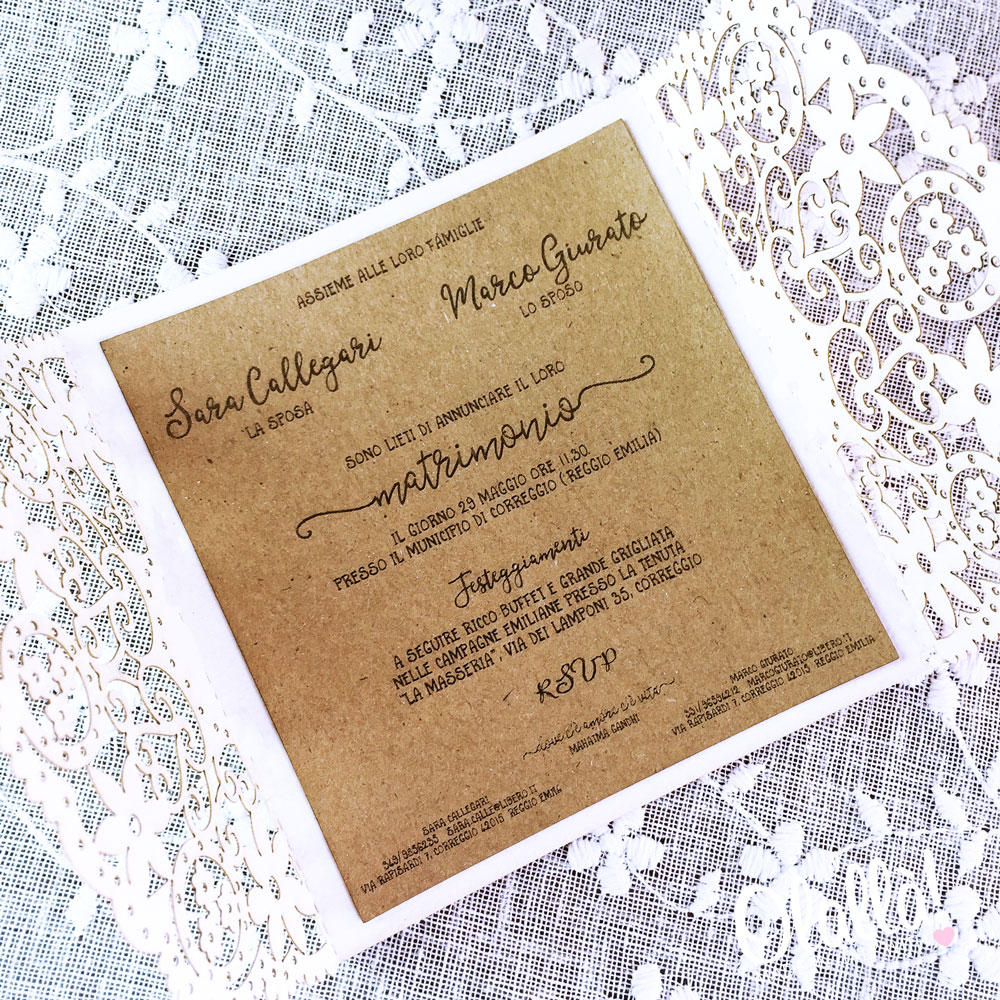 Inviti Matrimonio Country Chic : Partecipazioni matrimonio country chic zu regardsdefemmes
