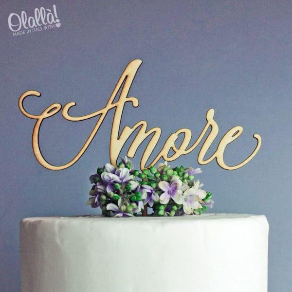 cake-topper-amore-legno-calligrafico