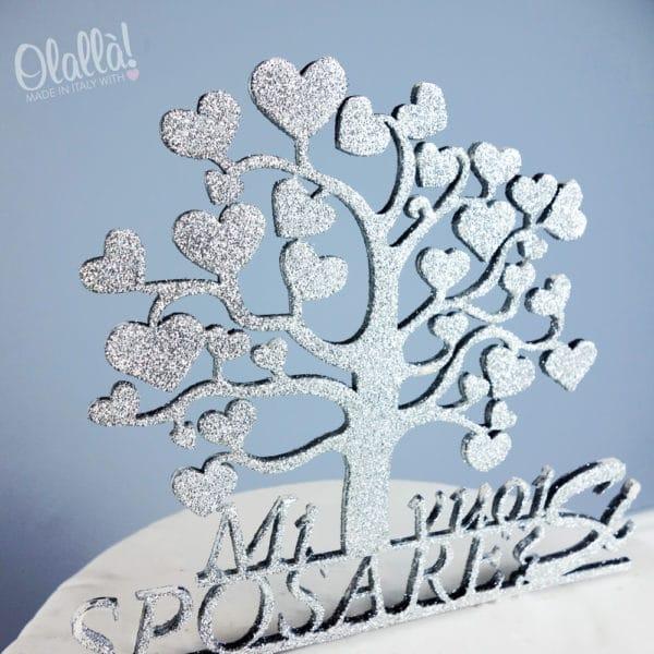 cake-topper-glitterato-argento-albero-vita