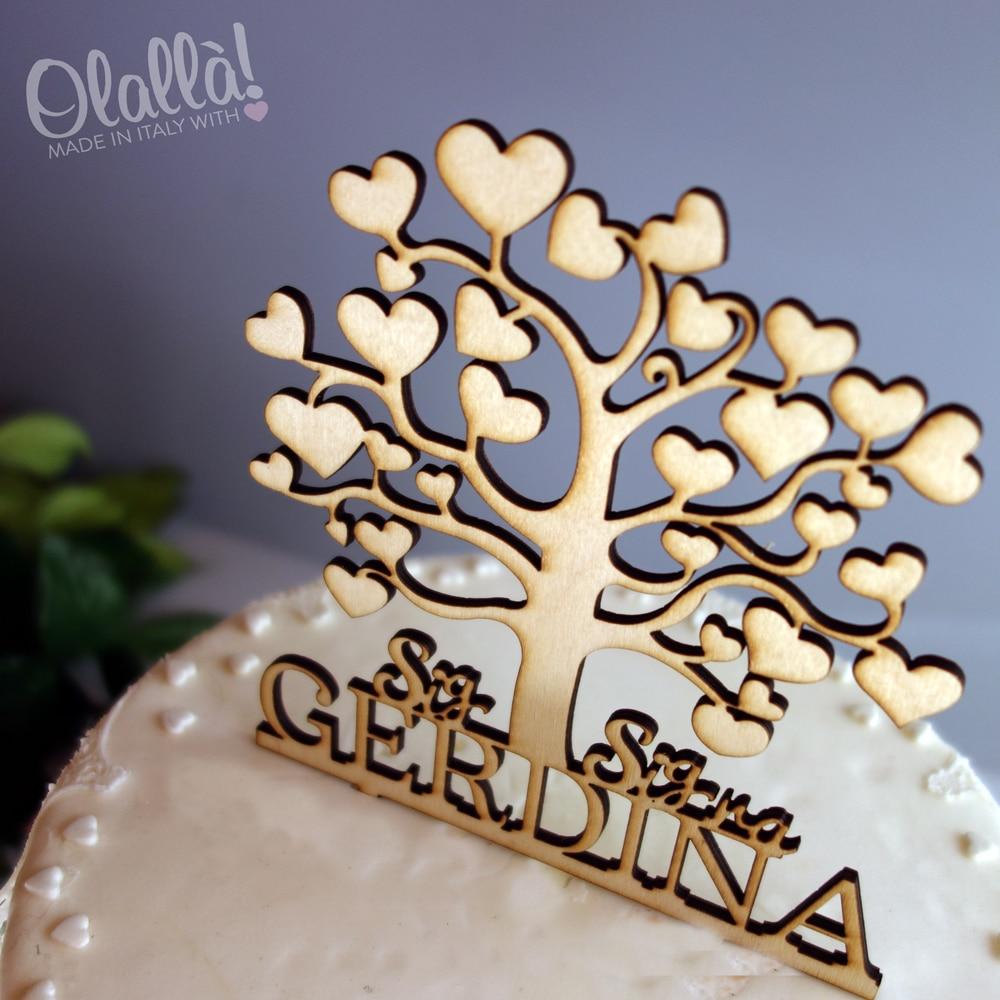 Top Cake Topper Personalizzato Albero della Vita | Olalla JE31