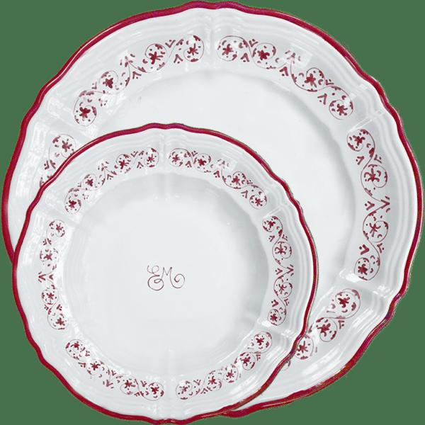 piatti-ceramica-fatti-mano-personalizzati-iniziali-decoro-mezzotondorosso