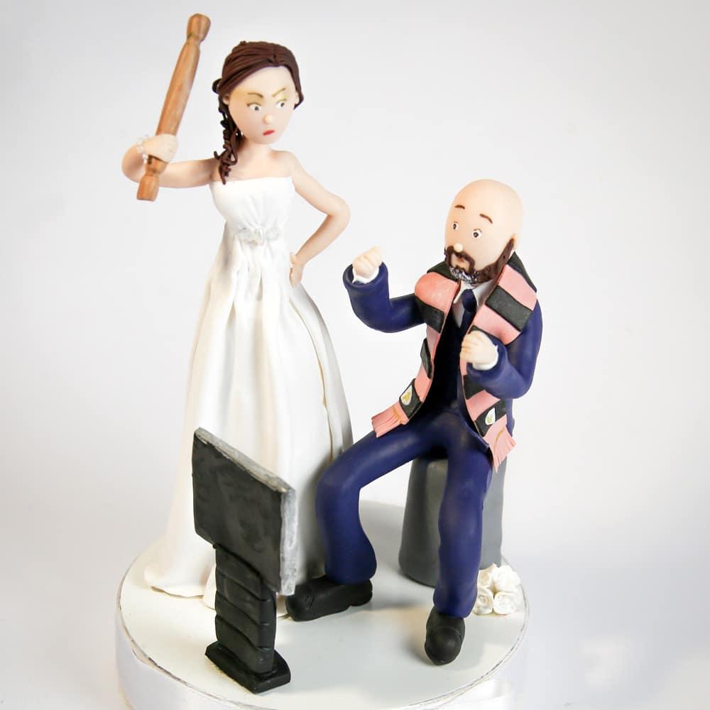 Cake Topper Con Statuine Sposini Personalizzate In Fimo