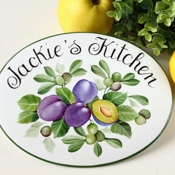 targa-per-cucina-porcellana-cucina-di-prugne-olive
