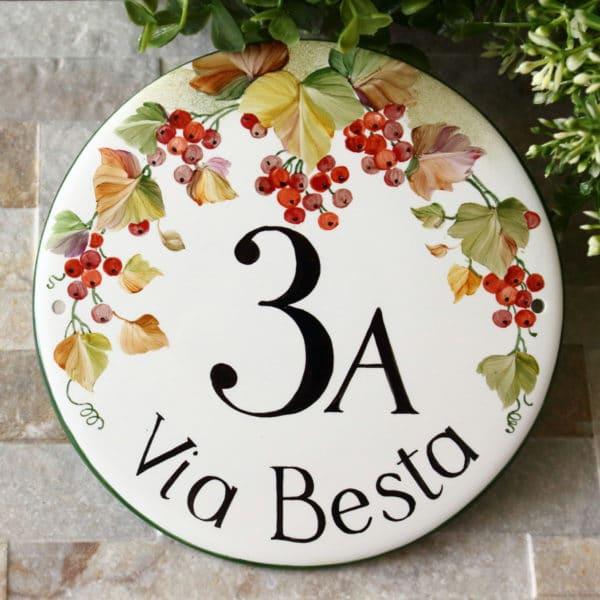 targa-porcellana-decoro-autunno-tonda44
