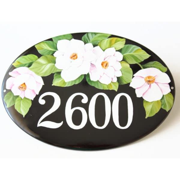 targa-porcellana-personalizzata-magnolia-nero3