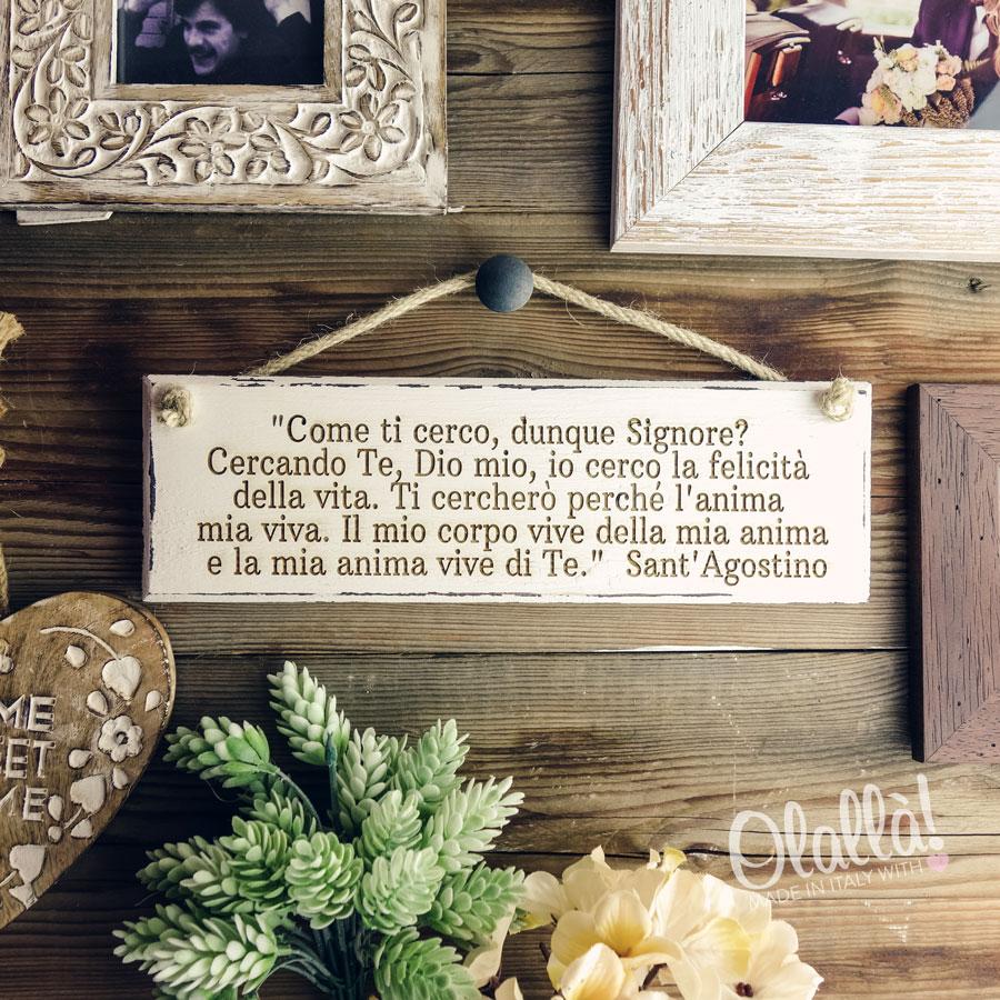 Popolare Targhetta in Legno Vintage Personalizzata con la Tua Frase | Olalla MZ14