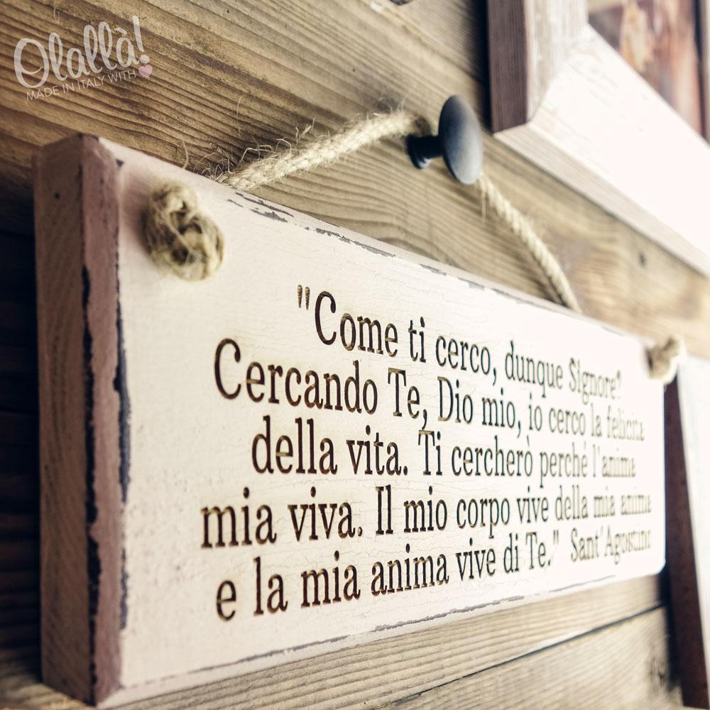 Famoso Targhetta in Legno Vintage Personalizzata con la Tua Frase | Olalla YU91