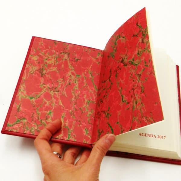 agenda-2017-personalizzata-iniziali-regalo-marmorizzata-rosso