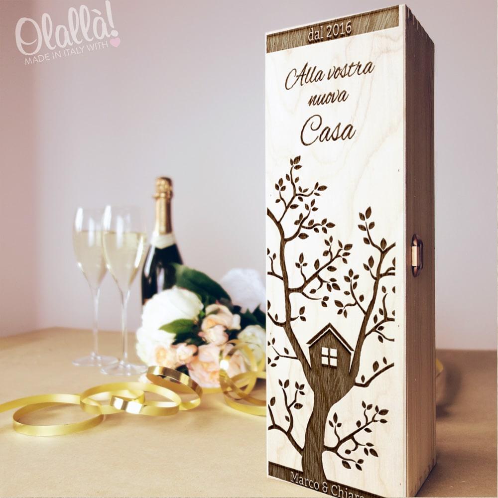 Cassettina porta vino in legno personalizzata idea regalo for Idee regalo per la casa
