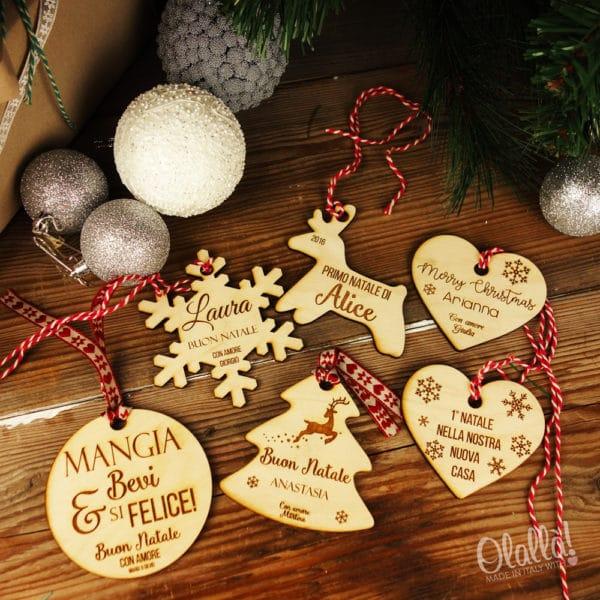Idee Regalo Natale Famiglia.Decorazione Personalizzata In Legno Da Appendere All Albero Di Natale Idea Regalo Per La Famiglia Olalla