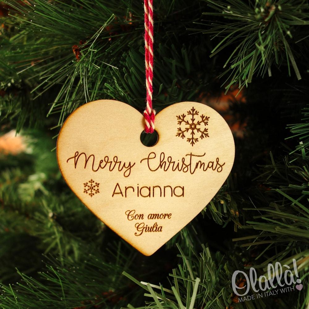 Decorazione Di Legno Da Appendere All 39 Albero Di Natale