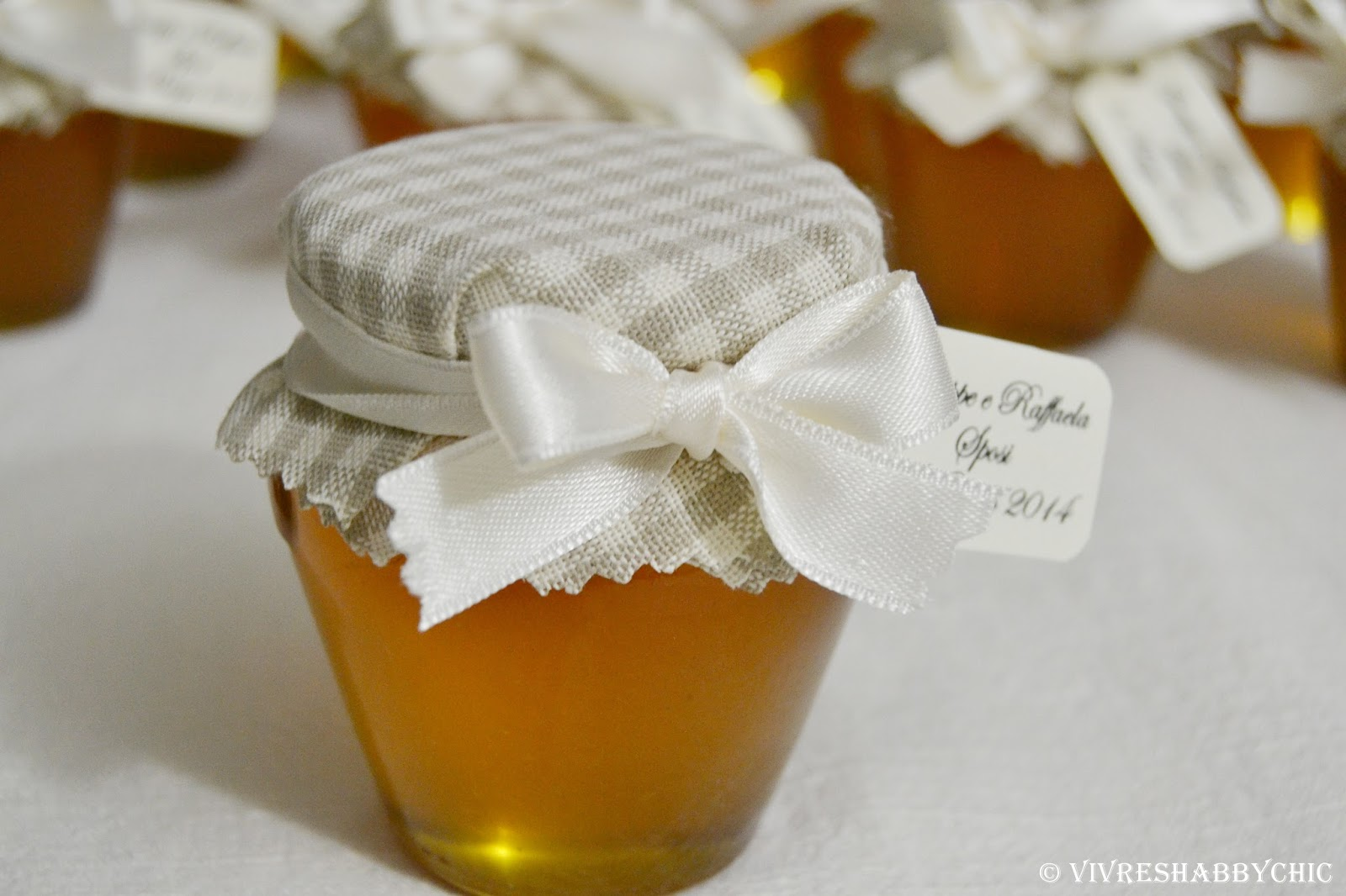miele-bomboniera-matrimonio-copricoperchio-nastrino-bianco