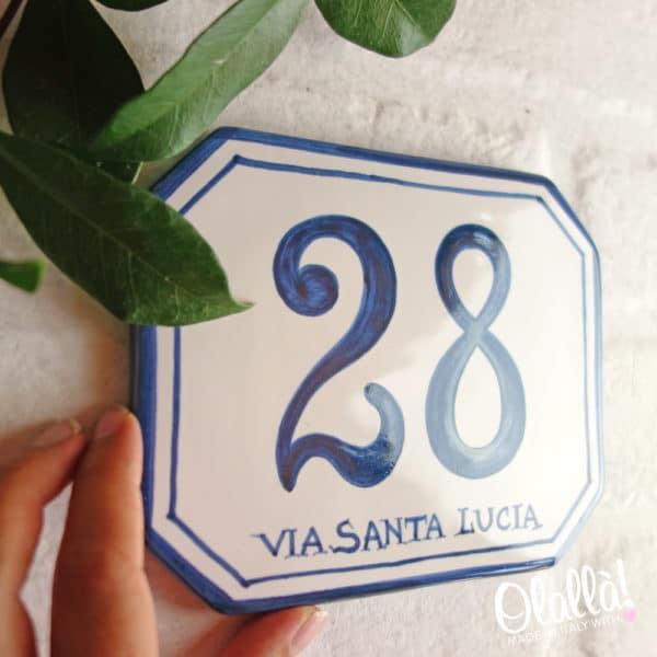 numero-civico-ottagonale-ceramica-semplice