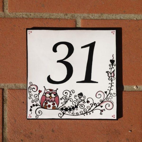 numero-civico-quadrato-gufetti-dipinto-mano