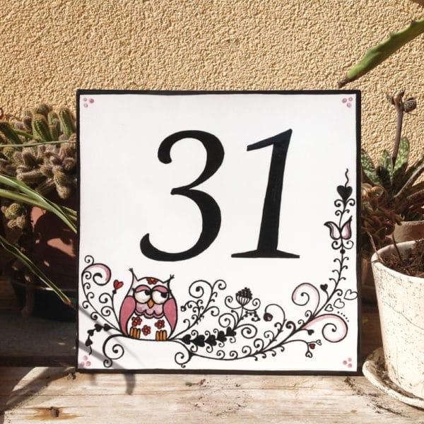 numero-civico-quadrato-gufetti-dipinto-mano2