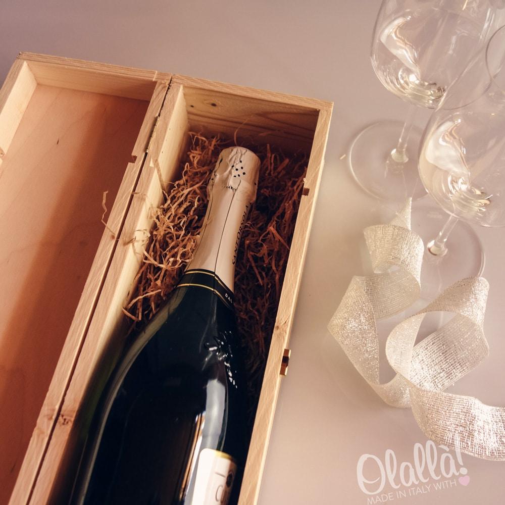 Cassettina porta vino in legno personalizzata idea - Porta vino legno ...