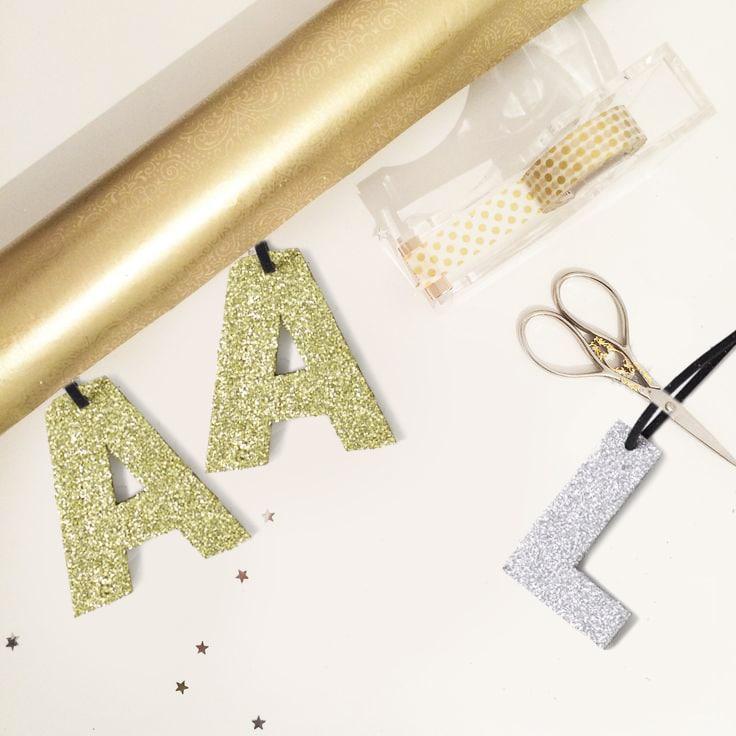 lettere glitterate da