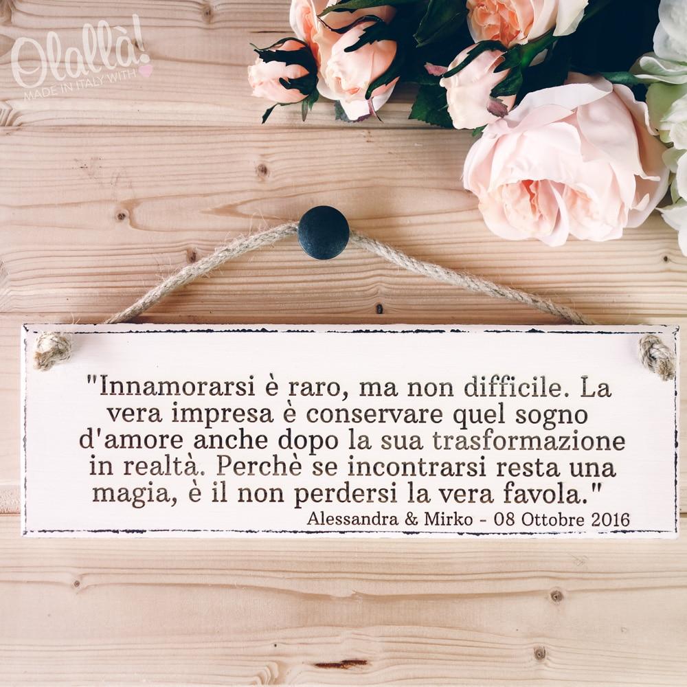 Favorito Targhetta in Legno Vintage Innamorarsi - Idea Regalo Matrimonio  EU33
