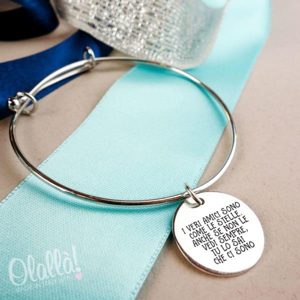 braccialetto-personalizzato-amici-come-stelle-argento