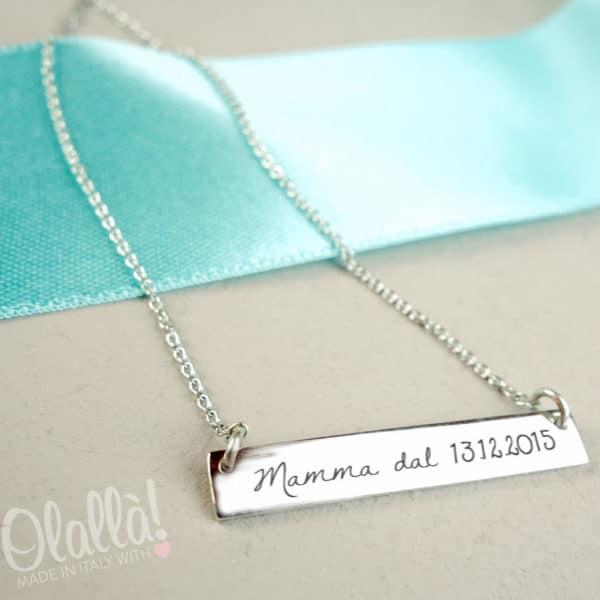 collanina-personalizzata-barretta-argento-mamma-dal