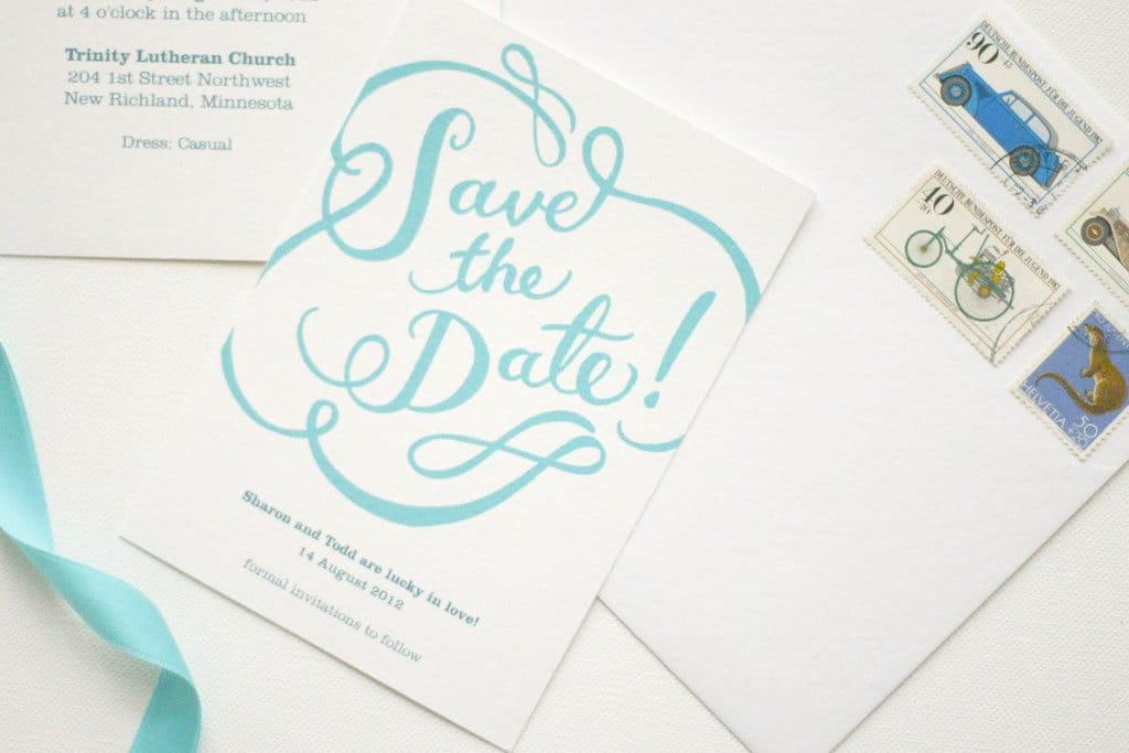 Partecipazioni Matrimonio Azzurro Polvere : Partecipazioni di matrimonio scritte a mano in stile