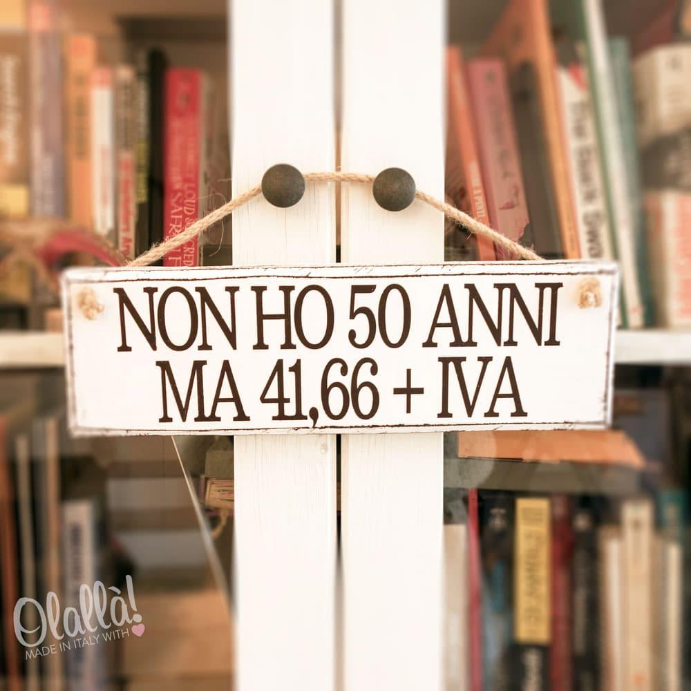 Targhetta in Legno Vintage Personalizzata   Idea Regalo 50 Anni
