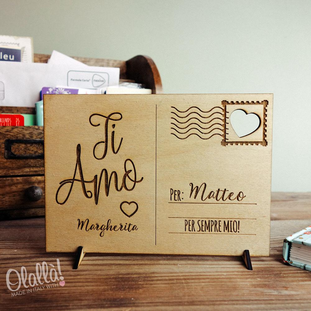 cartolina,amore,intagliata,legno,personalizzata55