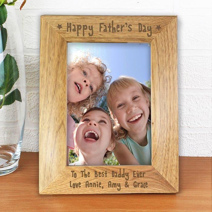 cornice-legno-incisa-regalo-festa-papa-figli
