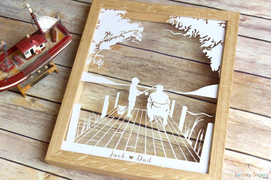 quadro-carta-pesca-personalizzato-papà-regalo