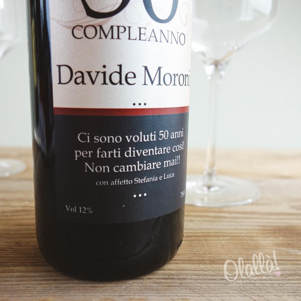 Auguri Matrimonio Vino : Bottiglia di vino personalizzata quot annata vintage idea