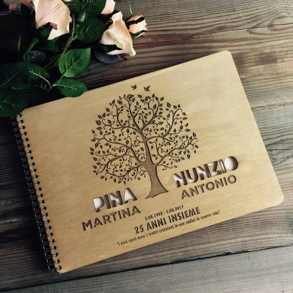 Guest-book-25-anni-matrimonio-personalizzato-legno-albero-vita