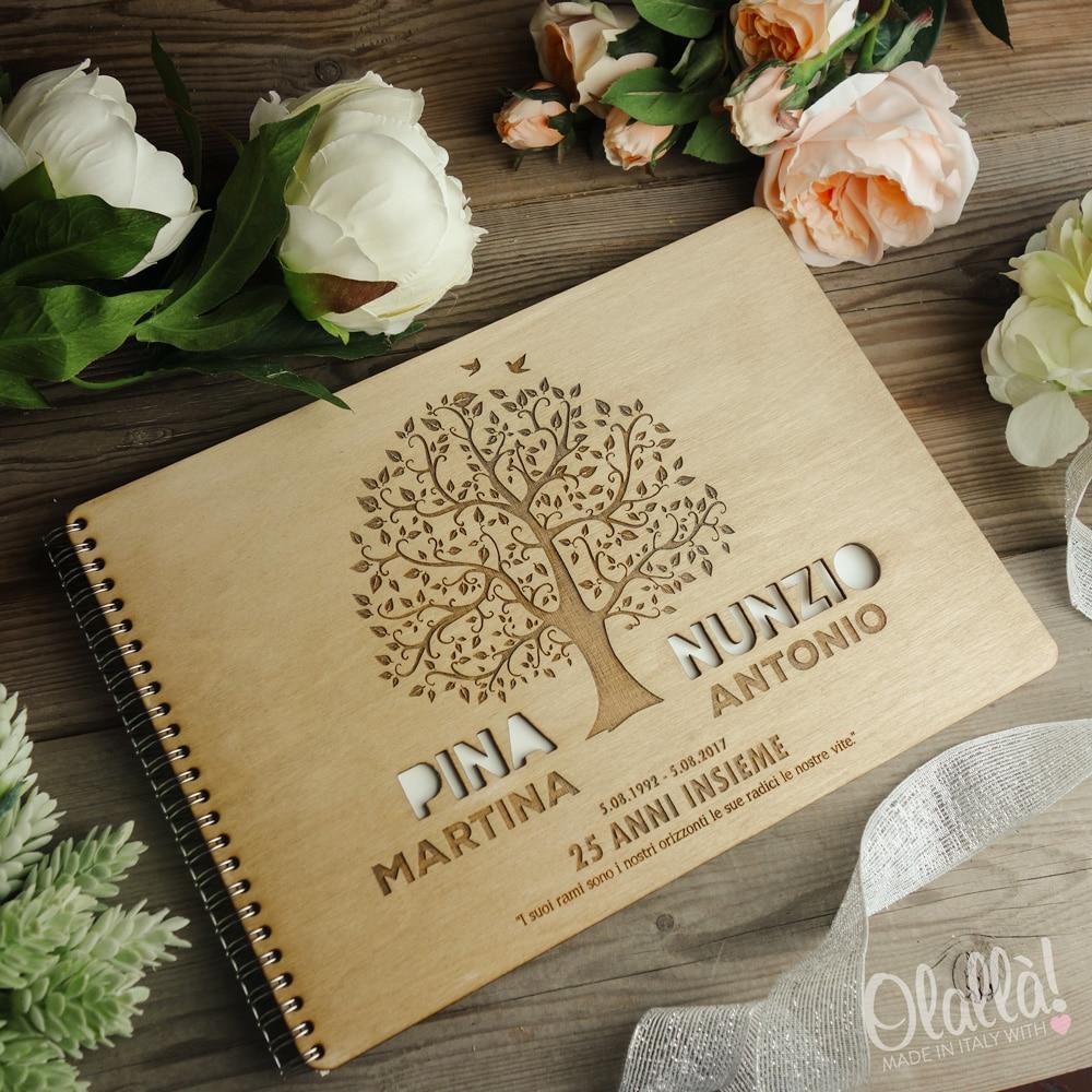 abbastanza Guestbook in Legno Personalizzato per Anniversario Matrimonio | Olalla ID61
