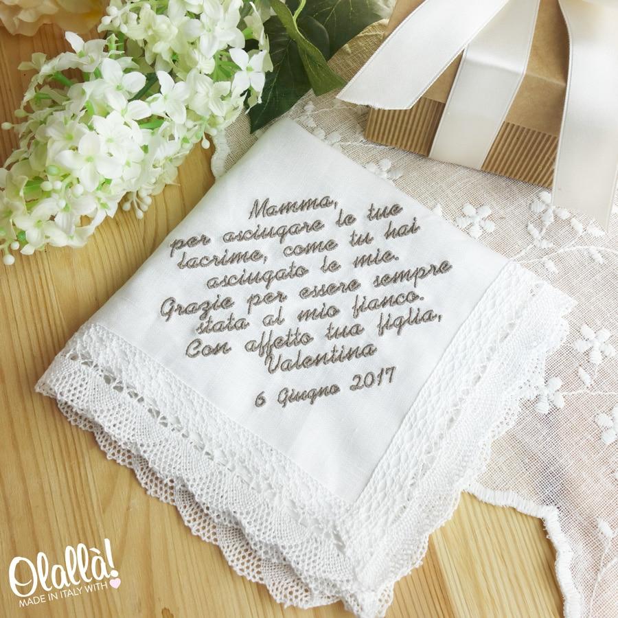 Anniversario Matrimonio Sorella.Fazzoletto Della Sposa Idea Regalo Mamma Amica Sorella O Suocera