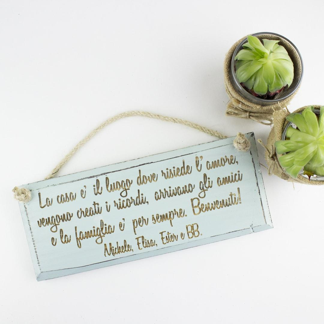 Favoloso Targhetta in Legno Vintage con Frase Personalizzata | Olalla SK24