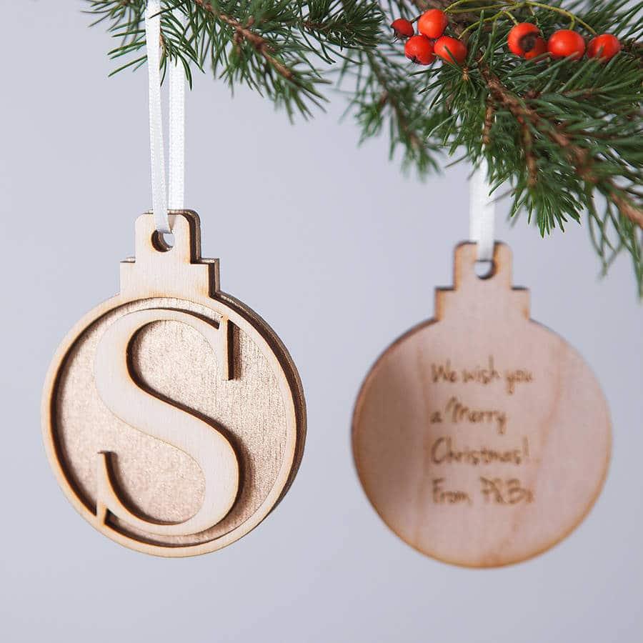 Addobbi natalizi per albero di natale in legno