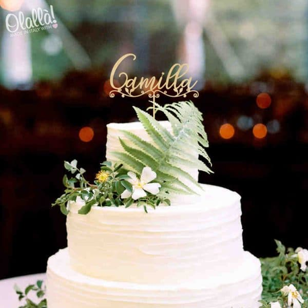 cake-topper-nome-con-decoro-foglie-personalizzato-compleanno