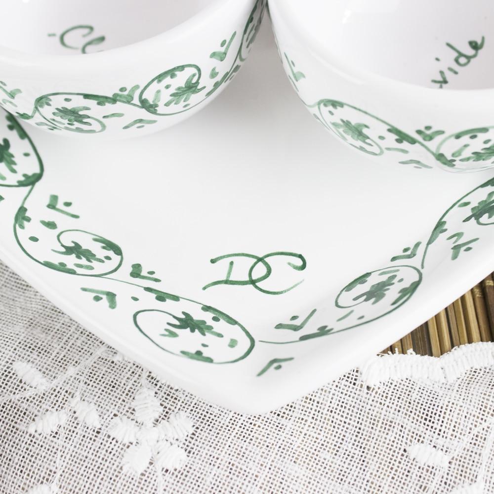 Ben noto Set da Caffè o Tè/Cappuccino - Tazzine in Ceramica con Vassoio  WF45