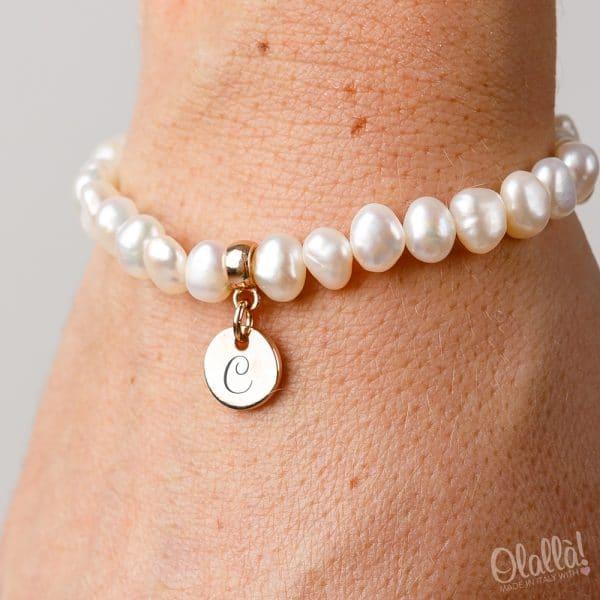 bracciale-perle-iniziale-personalizzata