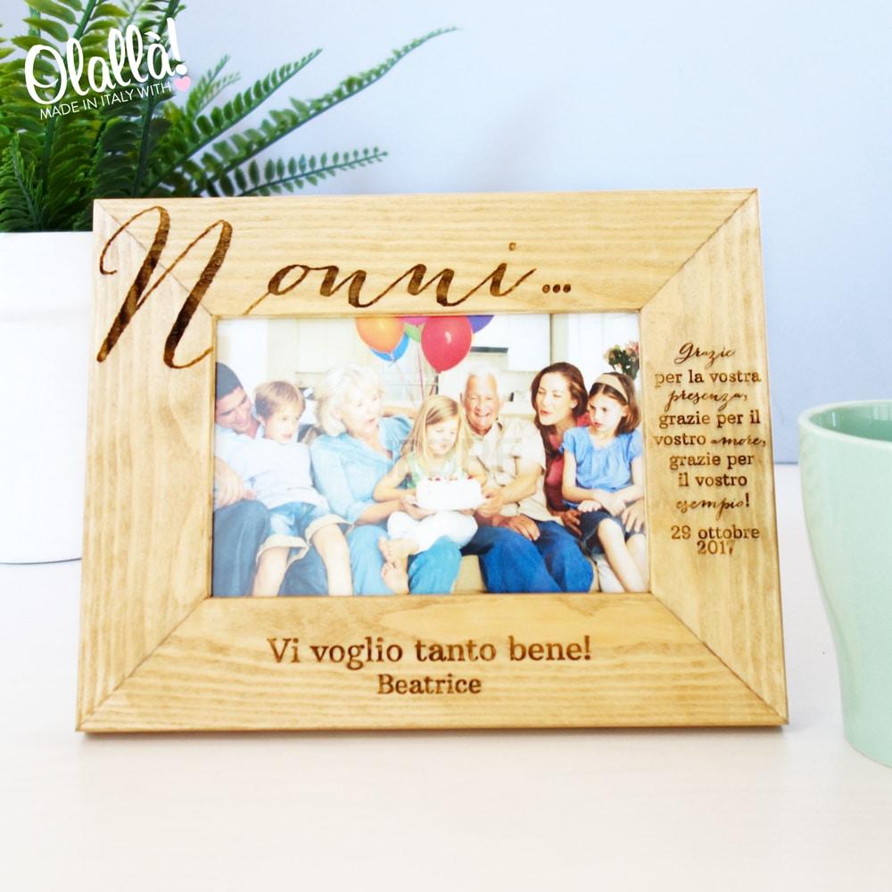 Top Cornice in Legno Personalizzata - Idea Regalo per i Nonni | Olalla FZ36