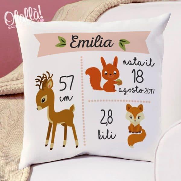 cuscino-personalizzato-idea-regalo-nascita-bosco