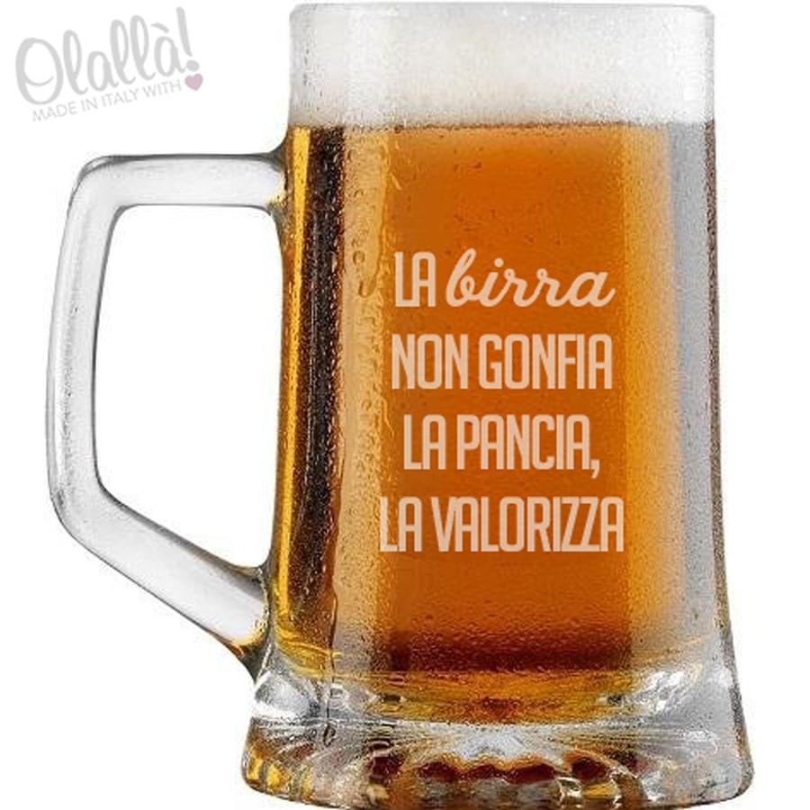 4238aad8ae Bicchiere da Birra con Manico Personalizzato con una Frase a Scelta ...
