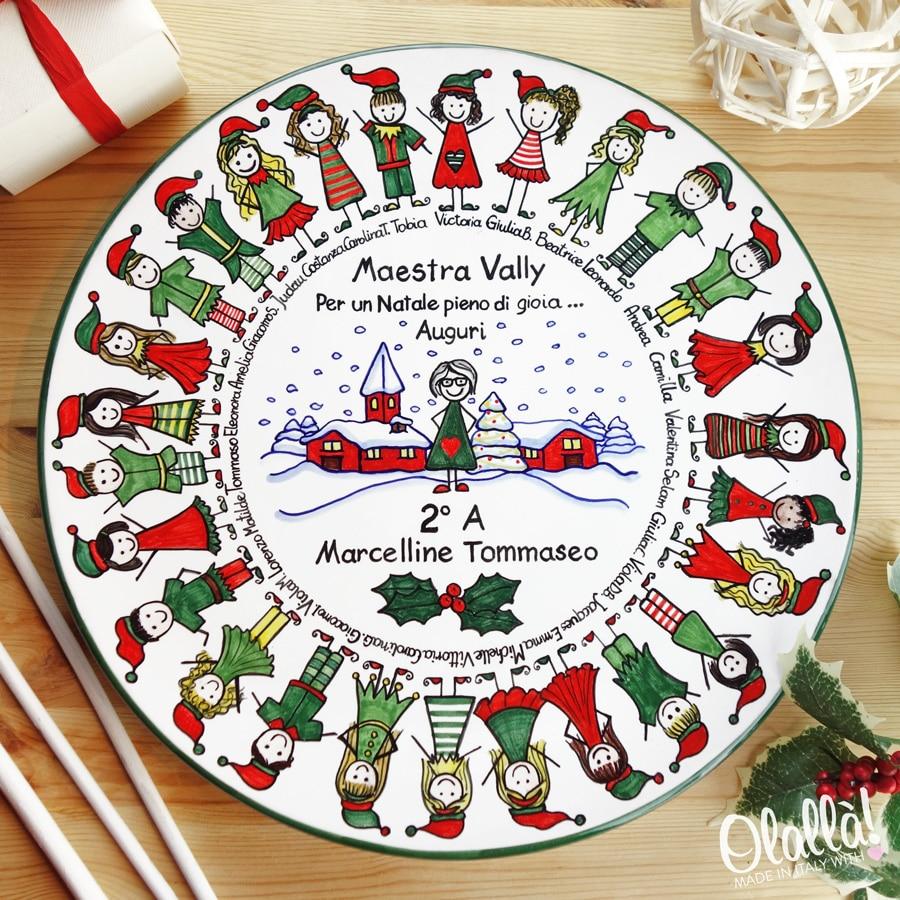 Piatto in ceramica idea regalo di natale ritratto di for Pensierino natale