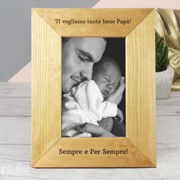 cornice-legno-portafoto-regalo-papa-personalizzata