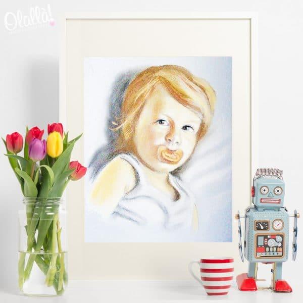 dipinto-personalizzato-regalo-primo-compleanno-ritratto