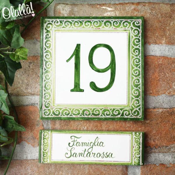 numero-civico-decoro-verde-targhetta-personalizzato